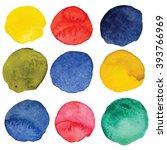 watercolor patterns  textures ... | Shutterstock . vector #393766969