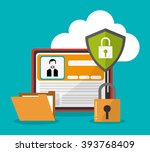 cyber security and tablet design | Shutterstock .eps vector #393768409