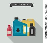 motor oils icon in flat style.... | Shutterstock .eps vector #393768700
