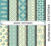 asian vector pattern pattern...   Shutterstock .eps vector #393769564