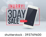 3th day sale banner. sale and... | Shutterstock .eps vector #393769600