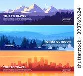 vector beautiful landscape... | Shutterstock .eps vector #393769624