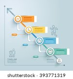 business timeline info graphic... | Shutterstock .eps vector #393771319