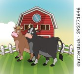 farm animals cartoons  vector... | Shutterstock .eps vector #393771646