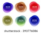 set of colorful round abstract... | Shutterstock .eps vector #393776086