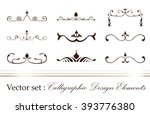 set of vector graphic elements... | Shutterstock .eps vector #393776380