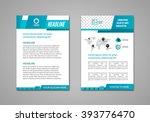 vector brochure flyer design... | Shutterstock .eps vector #393776470