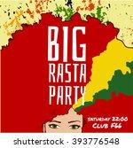 big rasta party  party flyer...