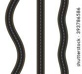 three vertical seamless roads... | Shutterstock .eps vector #393786586