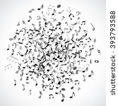 abstract musical dot element... | Shutterstock .eps vector #393793588