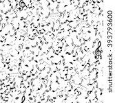 abstract musical seamless... | Shutterstock .eps vector #393793600