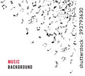 abstract musical frame and... | Shutterstock .eps vector #393793630