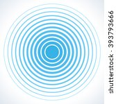 radar screen concentric circle... | Shutterstock .eps vector #393793666