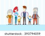 big family children baby... | Shutterstock .eps vector #393794059
