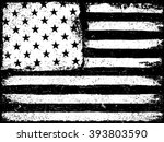 stars and stripes. monochrome... | Shutterstock . vector #393803590