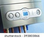 gas boiler control panel. gas... | Shutterstock . vector #393803866