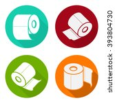 toilet paper icons with wrapped ... | Shutterstock .eps vector #393804730