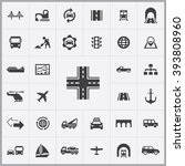 simple infrastructure icons set....