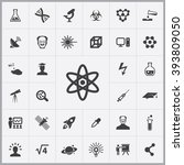 simple science icons set.... | Shutterstock .eps vector #393809050