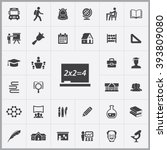 simple school icons set.... | Shutterstock .eps vector #393809080