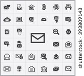simple mail icons set....