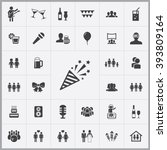 simple party icons set.... | Shutterstock .eps vector #393809164