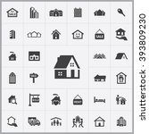 simple real estate icons set.... | Shutterstock .eps vector #393809230