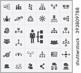 simple network icons set.... | Shutterstock .eps vector #393809788