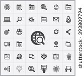 simple seo icons set. universal ... | Shutterstock .eps vector #393809794