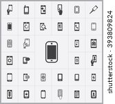 simple smartphone icons set....