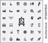 simple marketing icons set.... | Shutterstock .eps vector #393809860