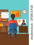 business video negotiations. | Shutterstock .eps vector #393811918