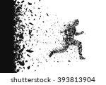 vector sprinter. breakthrough.... | Shutterstock .eps vector #393813904