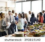 diversity people party... | Shutterstock . vector #393815140