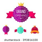 grand opening banners badges...