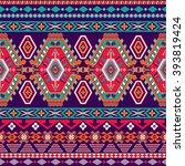 striped seamless pattern.... | Shutterstock .eps vector #393819424