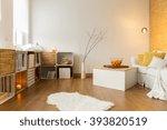modern living room with... | Shutterstock . vector #393820519