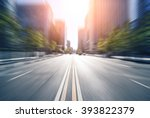 city road through modern... | Shutterstock . vector #393822379