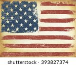 american themed flag background.... | Shutterstock . vector #393827374