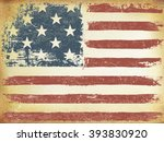 american themed flag background.... | Shutterstock . vector #393830920