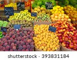 Fresh Fruits In Baskets At...