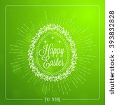 happy easter. vector vintage...   Shutterstock .eps vector #393832828