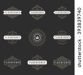 royal logos design templates... | Shutterstock .eps vector #393839740