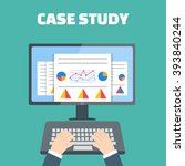 case study concept vector with... | Shutterstock .eps vector #393840244
