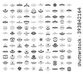 Vintage Logos Design Templates Set. Vector logotypes elements collection, Icons Symbols, Retro Labels, Badges, Silhouettes. Big Collection 120 Items. | Shutterstock vector #393842164