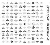 vintage logos design templates... | Shutterstock .eps vector #393842164