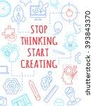 motivational a4 poster  banner... | Shutterstock .eps vector #393843370