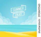 summer landscape  seascape... | Shutterstock .eps vector #393845560