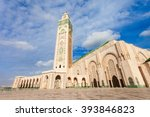 the hassan ii mosque is a... | Shutterstock . vector #393846823