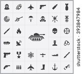 simple war icons set. universal ...